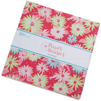 """Riley Blake, Paper Daisies, 10"""" Stacker, Fabric Quilt Squares, 10-8880-42, B05+"""
