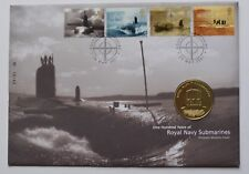 2001 Royal Navy Submarines Coin First Day Cover FDC PDC