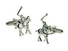Polo Design Cufflinks in Gift Box Player on horse - Onyx-Art London CK512