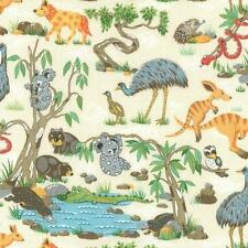 Fat Quarter Outback Animals Whimsical Critters 100% Cotton Quilting Fabric