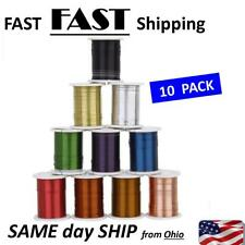 10 Rolls of Copper Wire Beading Thread Cord for DIY Jewellery Making -0.3mm