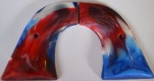 Ruger Blackhawk 44 mag pistol grips with screw red white and blue swirl