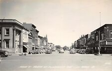 Le Mars Iowa~Main Street @ Plymouth Ave~Pix Theater~Clothing~Rogers~1940s RPPC