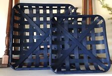 Navy TOBACCO BASKET ~Small Basket Only~ Farmhouse Chic Decor!