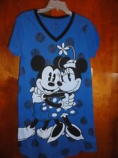Medium/Large Mickey & Minnie Blue  Sleepshirt NWT Disney