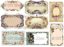 Furniture Decal Image Transfer Vintage Pretty Labels Antique Sign Floral Flower