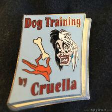 Disney Auctions Cruella De Vil Book Cover Dog Training Manual 101 Dalmatians Pin