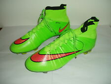 c3dd2b6f8 NIKE MERCURIAL LIME GREEN SOCK FOOTBALL BOOTS UK 9