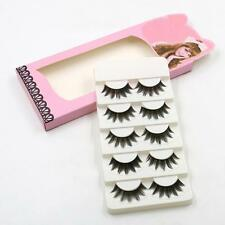5 Pairs Handmade Soft Long Makeup Cross Thick False Eyelashes Eye Lashes Nautral