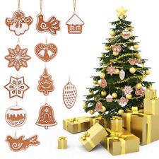 Lots 11pcs Polymer Clay DIY Christmas Tree Snowflake Hanging Pendant Ornament