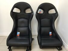 OEM PORSCHE 996 997 911 GT3 GT2 Recaro bucket seats Black Leather 993 964 Turbo