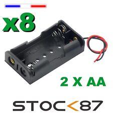 997G# 8pcs Boitier Bloc Support pour Pile 2 X AA  LR06  Battery Holder Case