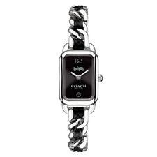 Coach Ludlow 14502748 Rectangular Ladies Watch Black/Silver Nib $295