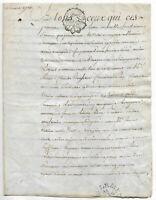 1776 manuscript parchment King LOUIS XVI royal notary 4p AMAZING CAPS calligrap