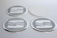 NEW 4pcs Decal Alu Stickers for Wheel Centre Cap Hubs for SEAT - 60mm