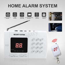 Wireless Home Intruder Burglar Alarm Security System Auto Dialer Smoke Sensor
