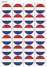 24X PRECUT NETHERLANDS FLAG RUGBY EDIBLE WAFER PAPER, CUPCAKE, CAKE TOPPERS 1214