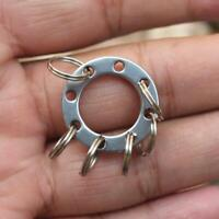 Stainless Steel Carabiner Key Chain Keychain Clip Hook Outdoor Hiking Tool Acces