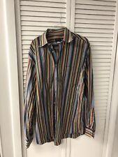 Paul & Shark Yachting Made in Italy Multi Stripe Long Sleeve Shirt L