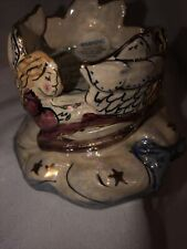 Blue Sky Clayworks Angel figure Candleholders with stars by Heather Goldminc