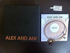Alex and Ani Feb Amethyst Teardrop Crystal Birthstone Gold Tone Charm Bracelet