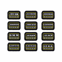 9mm .40 .45.380 12GA Military Tactical Morale Patch Hook and  Decorative Patch