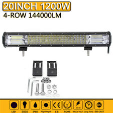 Quad Row 20''inch 1200W LED Work Light Bar Flood Spot Combo Offroad Truck Boat