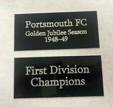 Portsmouth FC 1948-49 Golden Jubilee Season 1st Div 110x50mm Engraved Plaque Set
