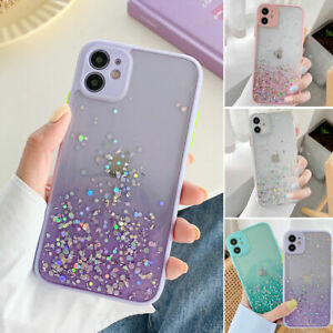 Glitter Powder Shockproof Case For iPhone XS/X SE Cover