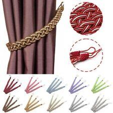 2PCS/Pair Braided Satin Rope Curtain Tie Backs Holdbacks Holder Curtain Voile