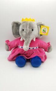 "Vintage 1995 Gund Babar 15"" QUEEN CELESTE Elephant Soft Stuffed Plush Toy"