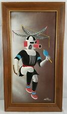 Vintage Corn Kachina AHLSTROM Original Oil Painting on Canvas, Signed