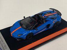 1/43 Looksmart Lamborghini Aventador SV LP750-4 Roadster Le Mans Blue Orange