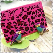 Betsey Johnson Multicolor Bird  earrings& free Gift $5.99