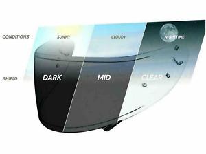 Shoei CWR-1 Transition Photochromic Helmet Face Shield Visor X14,RF1200,RF-SR