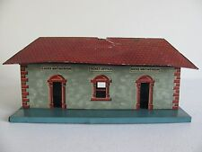 Prewar Bing O Scale Tin Lithographed Ticket Office Train Station Parts / Restore