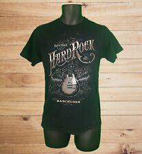 Hard Rock Cafe Barcelona Men's SS Black T-Shirt w Guitar & Wings Graphic! Size S