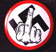 GIVE THE FINGER TO THE NAZI'S 2016 -17 NYC PROTESTS ORIGINALS PINBACK SCARCE