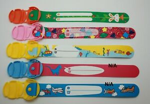 Child ID wristbands Reusable waterproof Safety band for kids holiday party favor