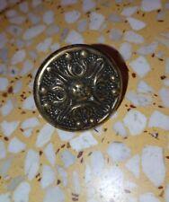 1 bouton, poignée de tiroir commode en bronze ou laiton 3,5 cm