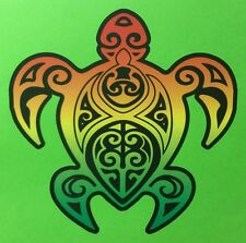 Rasta Sticker Turtle Car Sticker Bob Marley Reggae 100 X 100 mm NZ Islander