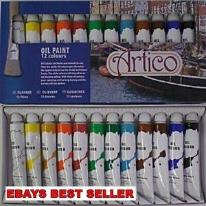 Artists Oil Paints Painting Set Painters Colours Tubes Pictures Supplies Kit Art