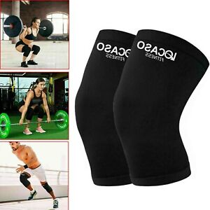 Knee Support Brace Compression Sleeve Arthritis Running Sports GYM Protector UK
