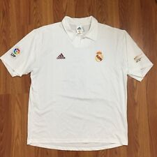 2002 Real Madrid Centenary Jersey Shirt Home La Liga Zidane 5 Adidas XL - Read