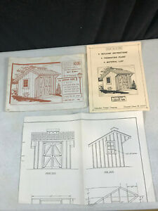 1971 Suburban Design Carriage Barn Plan 4-1791 Building Foundation Material List