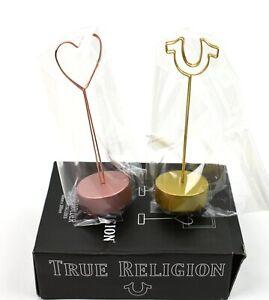 True Religion Gold Metal Photo Holders - TRPHOTO