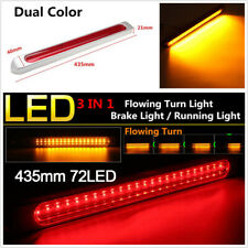 Dual Color Sequential Flowing LED Signal Light Car Tail Brake Indicator Lamp Bar
