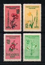 1955 TURKEY İSTANBUL SPRING & FLOWERS FESTIVITY COMPLETE SET MNH**