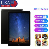 10.1'' Android 9.0 Tablet 8+128G 8Core 4G Phone Dual SIM GPS Unlocked PC US