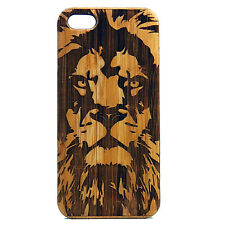Lion Case for iPhone 6 6S Bamboo Wood Cover Leo Astrology Africa Jungle King